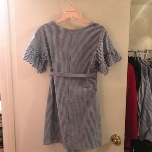 Dresses - Blue stripe dress